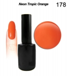 Hybrydowy lakier do paznokci 15ml -GEL Polish Soak Off- MODERN LACK - Neon tropic orange (178)