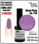 Gel Polish - 15ml - Deep Plum (no. 218)