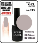 GEL Polish 15ml - soak off - Mellow (no. 243)