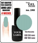 GEL Polish 8ml - soak off - Meer Pastel (no. 248)