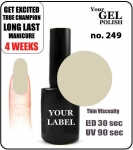 GEL Polish 8ml - soak off - Natur Pastel (no. 249)