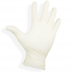 Latex gloves lightly powdered MaxPro size: L