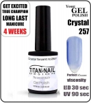 GEL Polish 8ml - soak off - Crystal Tanzanit (no. 257)