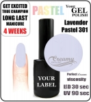 Gel Polish - 8ml - Pastel lavender (no. 301)