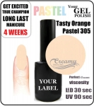 Gel Polish - 8ml - Tasty pastel orange (no. 305)