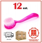 12x Round nail brush, manicure, pedicure, dust extraction - mix color