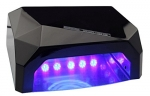 LED lamp + 36W UV CCFL Diamond with Motion Sensor to gel and hybrid lacquer - black
