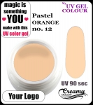 żel kolorowy UV color Gel 5 ml TND - 12 - pastel orange