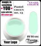 żel kolorowy UV color Gel 5 ml TND - 13 - pastel green