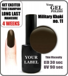 Gel Polish - 15ml - Military Khaki (no. 11)