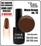 Gel Polish - 15ml - Warm Brown (no. 13)