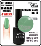 Gel Polish - 8ml - Brillante Menta (no. 14) glitter