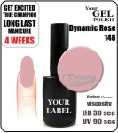 Gel Polish - 8ml - Dynamic Rose (no. 148)