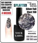 Gel Polish - 15ml - Silver Foil (no. 150)