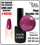 Gel Polish - 15ml - Plum Metallic (no. 173)
