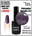 Gel Polish - 8ml - Palisander Metallic (no. 174)