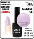 Gel Polish - 8ml - Candy Pink (no. 176)