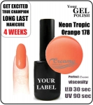 Gel Polish - 15ml - Neon Tropic Orange (no. 178)