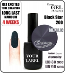 Gel Polish - 15ml - Black Star (no. 200)