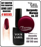 gel polish - smalto - 15ml - Burgundy Maroon (no. 32)