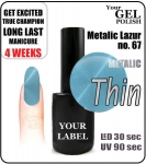 gel polish  - 15ml - Metalic Lazur (no. 67)