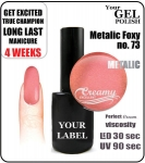 gel polish - smalto - 15ml - Metalic Foxy (no. 73)
