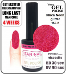 Gel Polish - 15ml - Chica Neon glitter (no. 159-2)   NEW