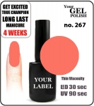 GEL Polish 15ml - soak off - Royal Majestic (no. 267)