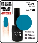 GEL Polish 15ml - soak off - Royal Kamikaze (no. 270)