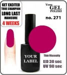 GEL Polish 15ml - soak off - Royal Margarita (no. 271)