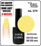 GEL Polish 8ml - soak off - Pina Colada (no. 274)