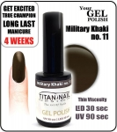 GEL Polish - Soak Off - military khaki 15ml