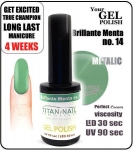 GEL Polish - Soak Off  - brillante menta 15ml