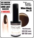 GEL Polish - Soak Off - winna czerń 15ml (21)