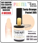 GEL Polish 15ml - soak off - Tasty pastel orange (no. 305)
