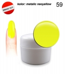 Gel Hybrid GEL Polish Soak Off 5ml - metalic neoyellow (59)