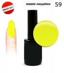 LED Gel soak off 30 sec - metalic neoyellow 15ml (59)