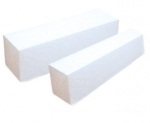 Buffer Block White - white  4-sided 100/100