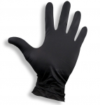 Nitrile Gloves Black Size: S