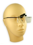 eyelash extension glasses with magnifying glass and lamp