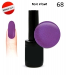 LED Gel soak off 30 sec - holo violet 15ml ( 68 )